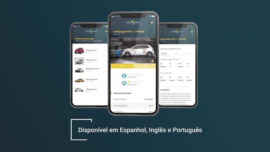 Latin NCAP lança app com resultados de testes de colisão