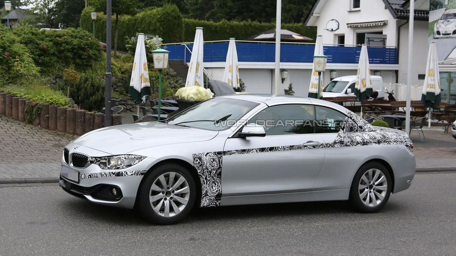 2014 BMW 4-Series Convertible spied with less disguise