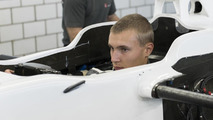 Sergey Sirotkin seat fitting at Sauber headquarters 21.08.2013