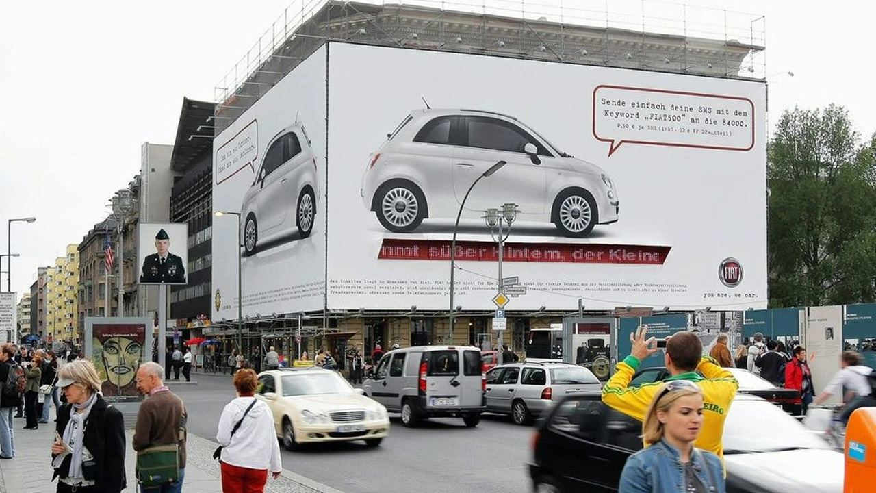 Huge Fiat 500 billboard in Berlin