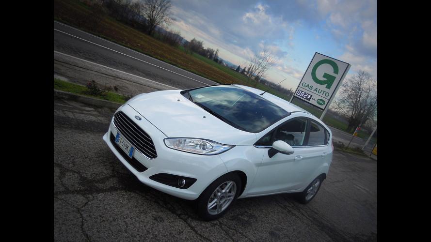 Ford Fiesta 1.4 GPL in promozione, prova dei consumi