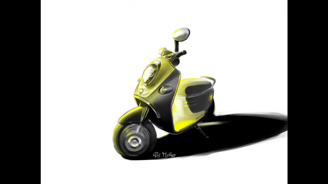 MINI scooter elettrico: i bozzetti