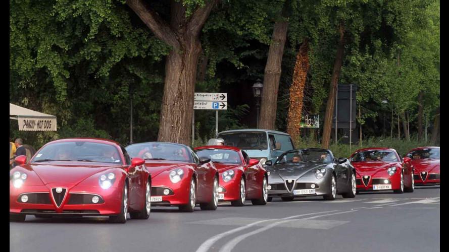 Le Alfa 8C infiammano la Toscana