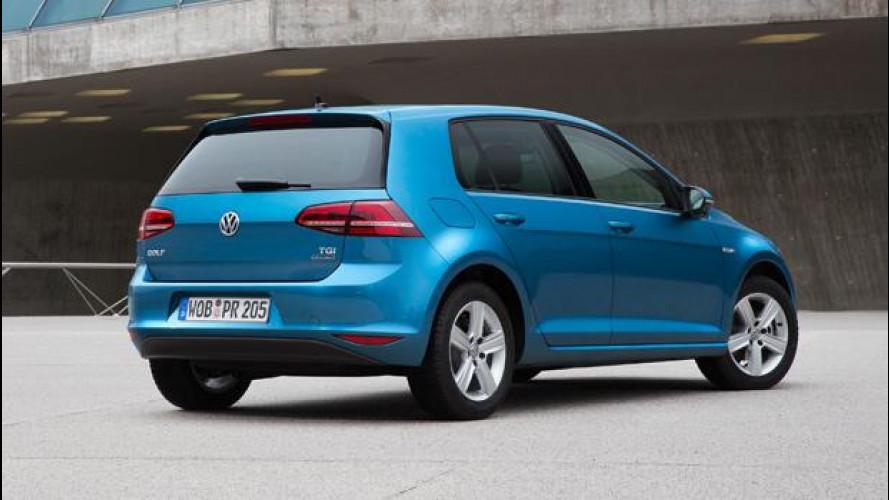 Volkswagen Golf a metano: prezzo promo da 18.500 euro
