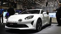 Alpine A110 Pure, Legende at the 2018 Geneva Motor Show