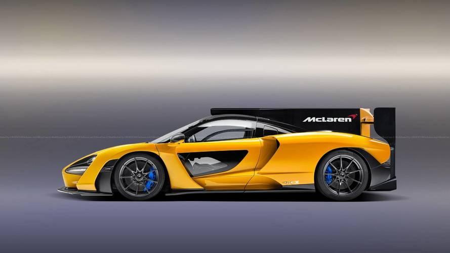 McLaren Senna Speedster, LMP race car renders