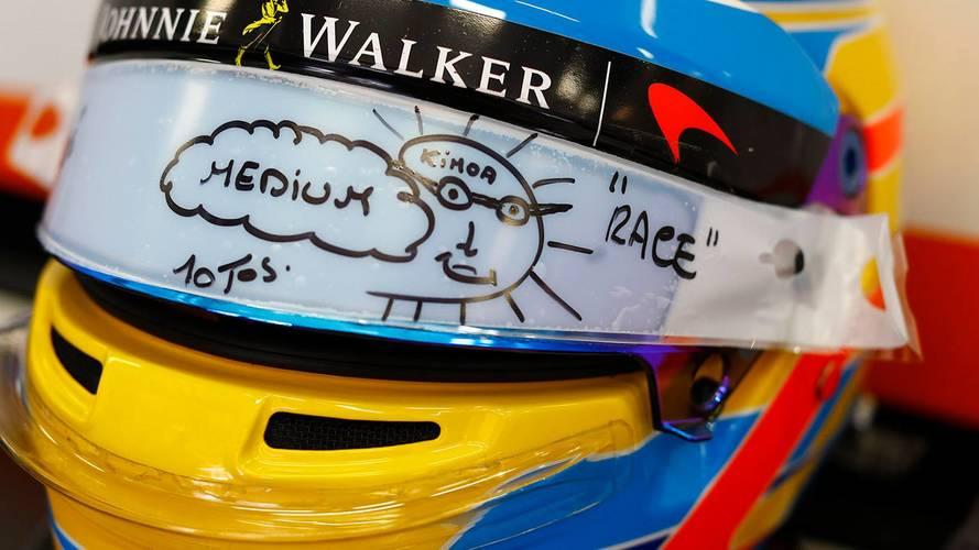 Alonso da una primera pista de cómo será su nuevo casco