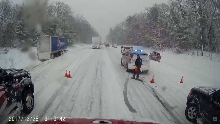 This Multi-Car Melee In Michigan Reminds Us That Winter Is Brutal