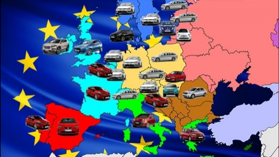 Le auto più vendute in Europa, Paese per Paese