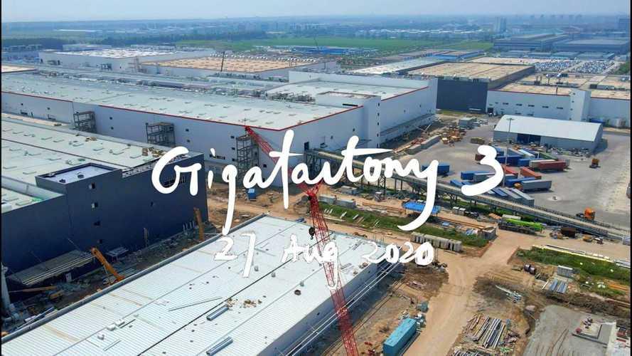 Tesla Giga Shanghai Construction Progress August 27, 2020: Video