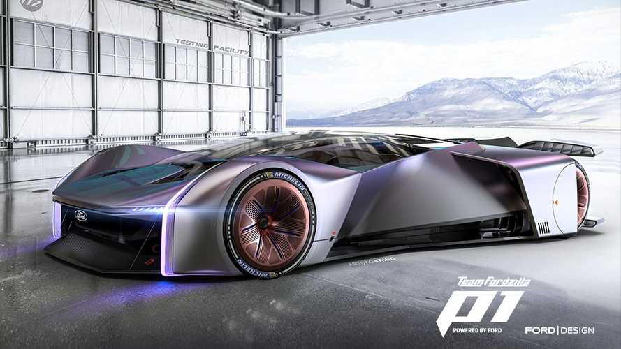 This futuristic Ford Hypercar concept was made by gamers