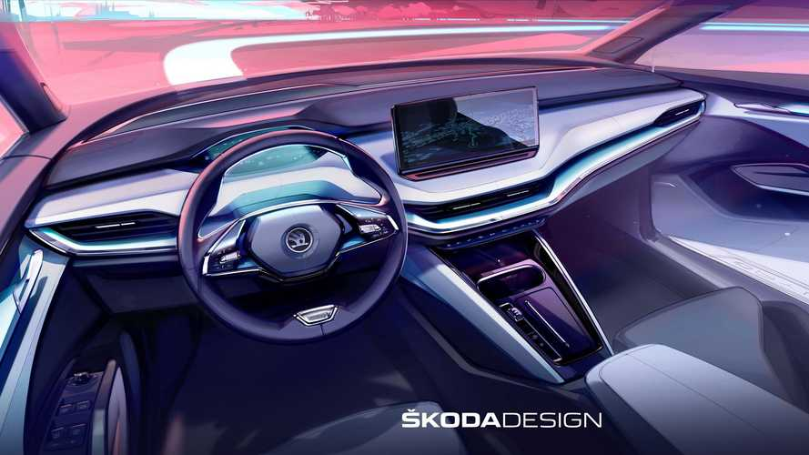 2021 Skoda Enyaq iV Interior Teased In Design Sketches