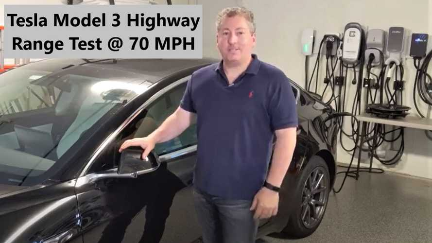Tesla Model 3 Highway Range Test At A Constant 70 MPH