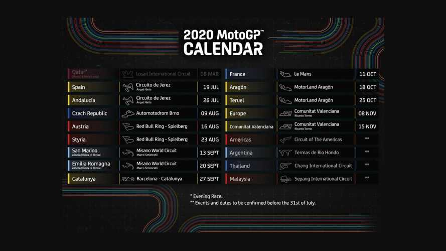 MotoGP Announces Updated 2020 Racing Schedule