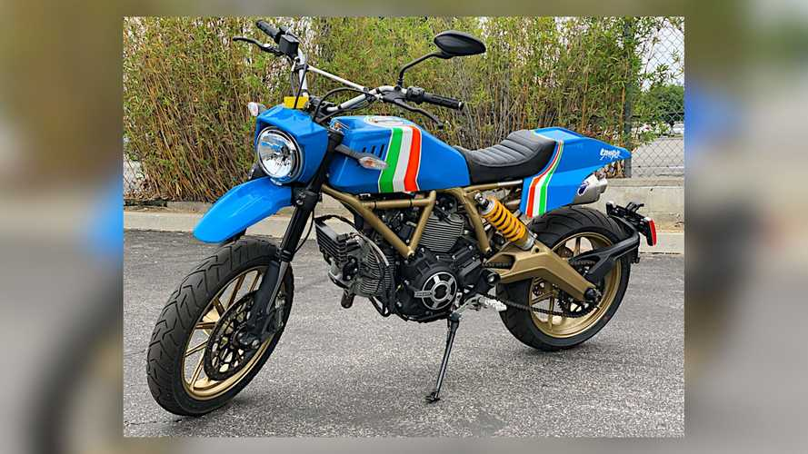 This Custom Ducati Scrambler Is Your '80s Dual-Sport Dream