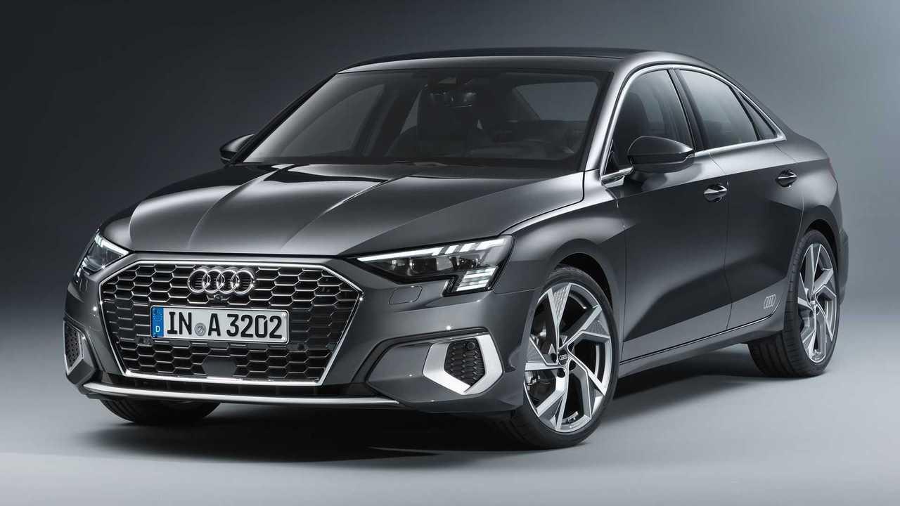 2022 Audi A3 Sedan front quarter