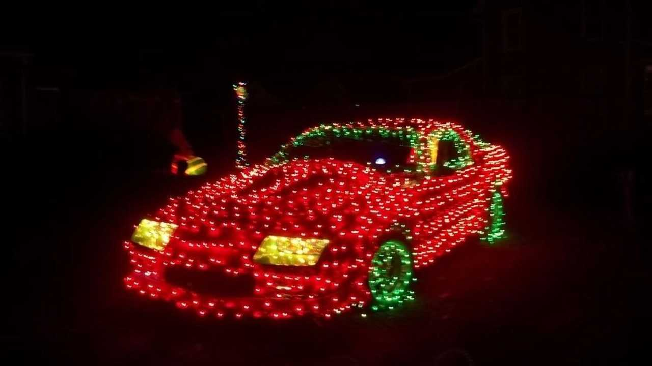Is this Chevrolet Camaro the ultimate Christmas decoration?