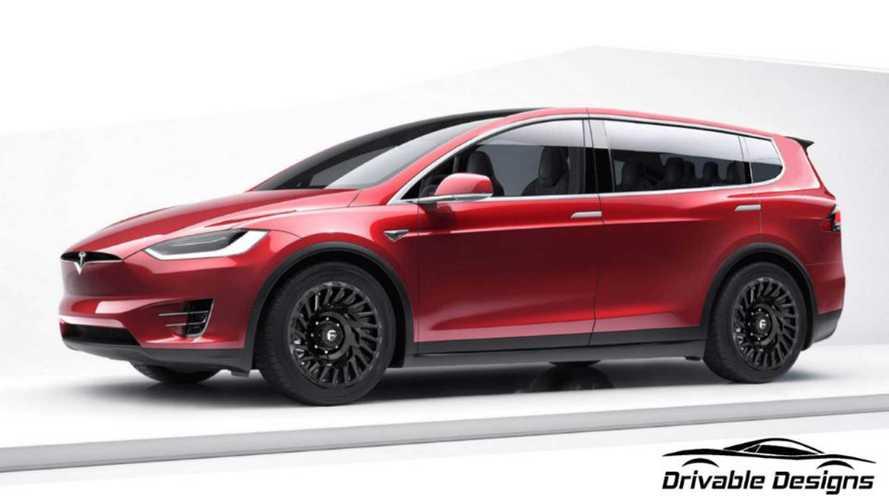 Tesla Model X, bu hayali tasarımda standart kapılara kavuşmuş
