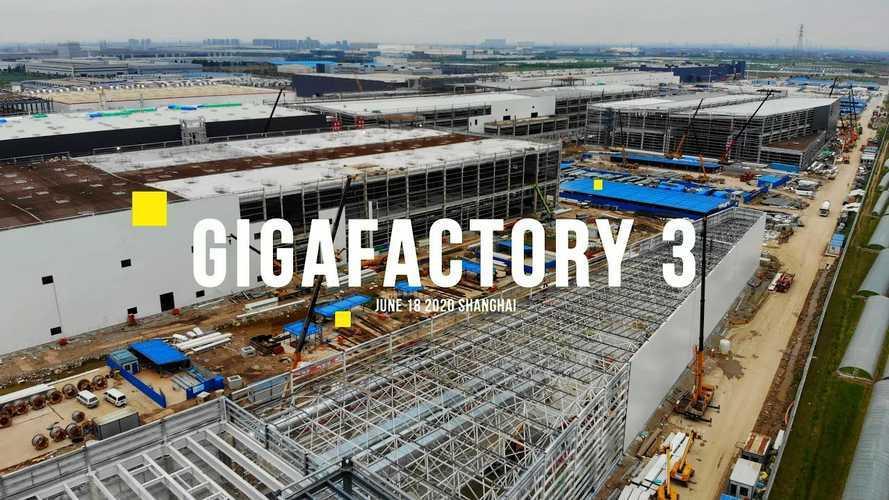 Tesla Giga Shanghai Construction Progress June 18, 2020: Video