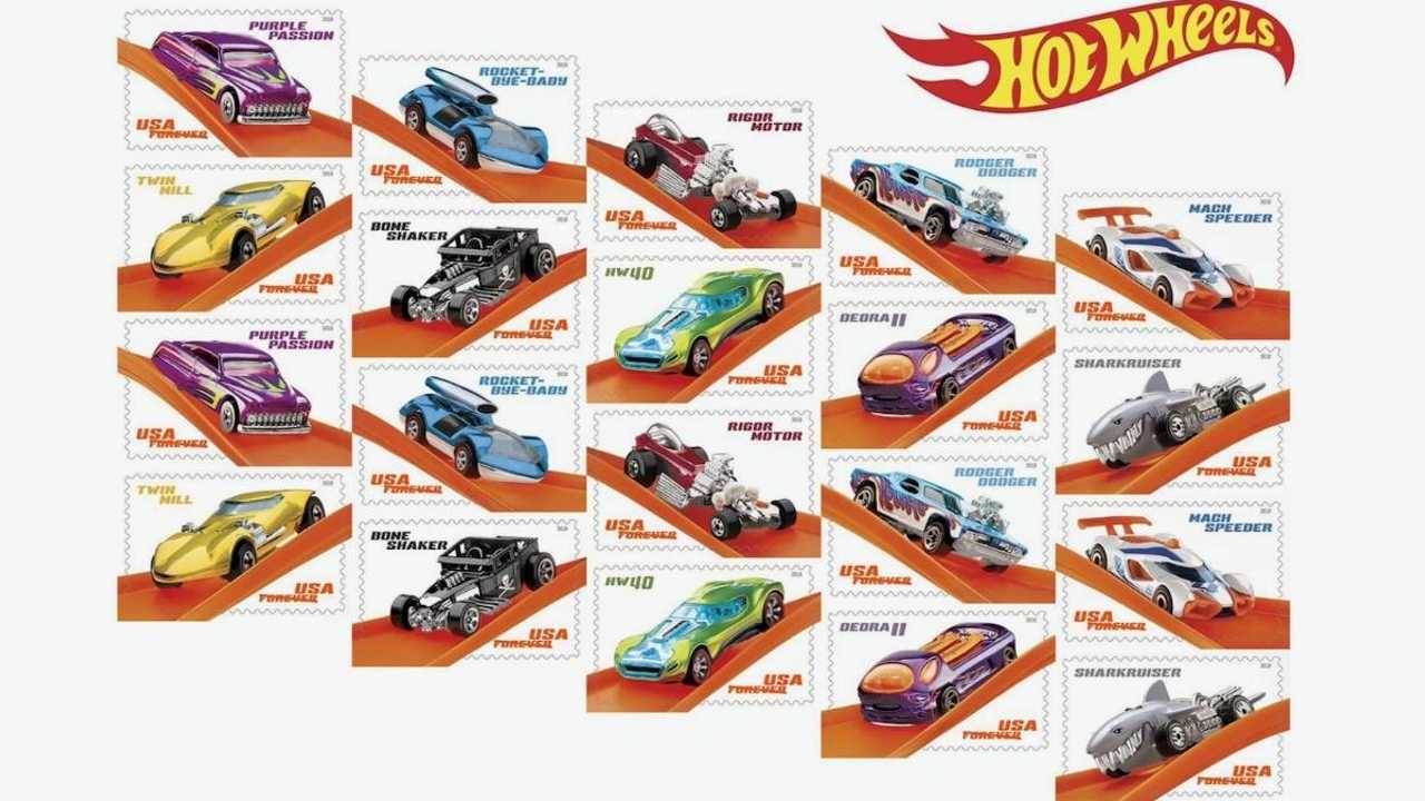 Hot Wheels stamps released to commemorate its 50th anniversary
