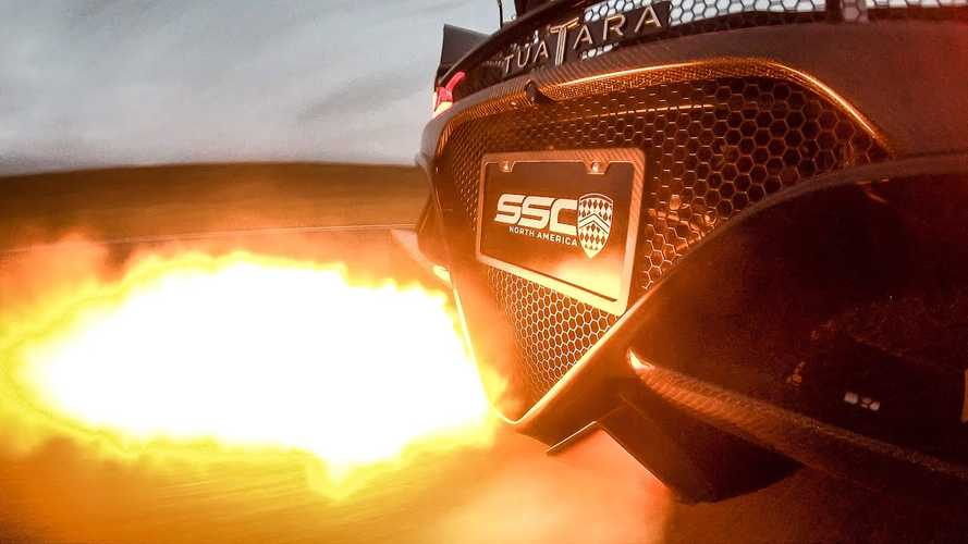 Watch SSC Tuatara Shoot Flames During Track Mode Shifting