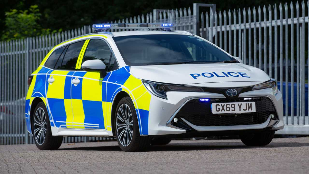 Toyota Corolla Touring Sports police patrol car
