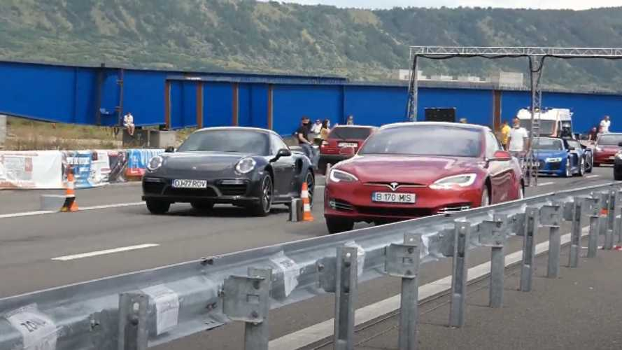 Here's A Challenge: Watch Tesla Model S P100D Take On Porsche 911 Turbo S