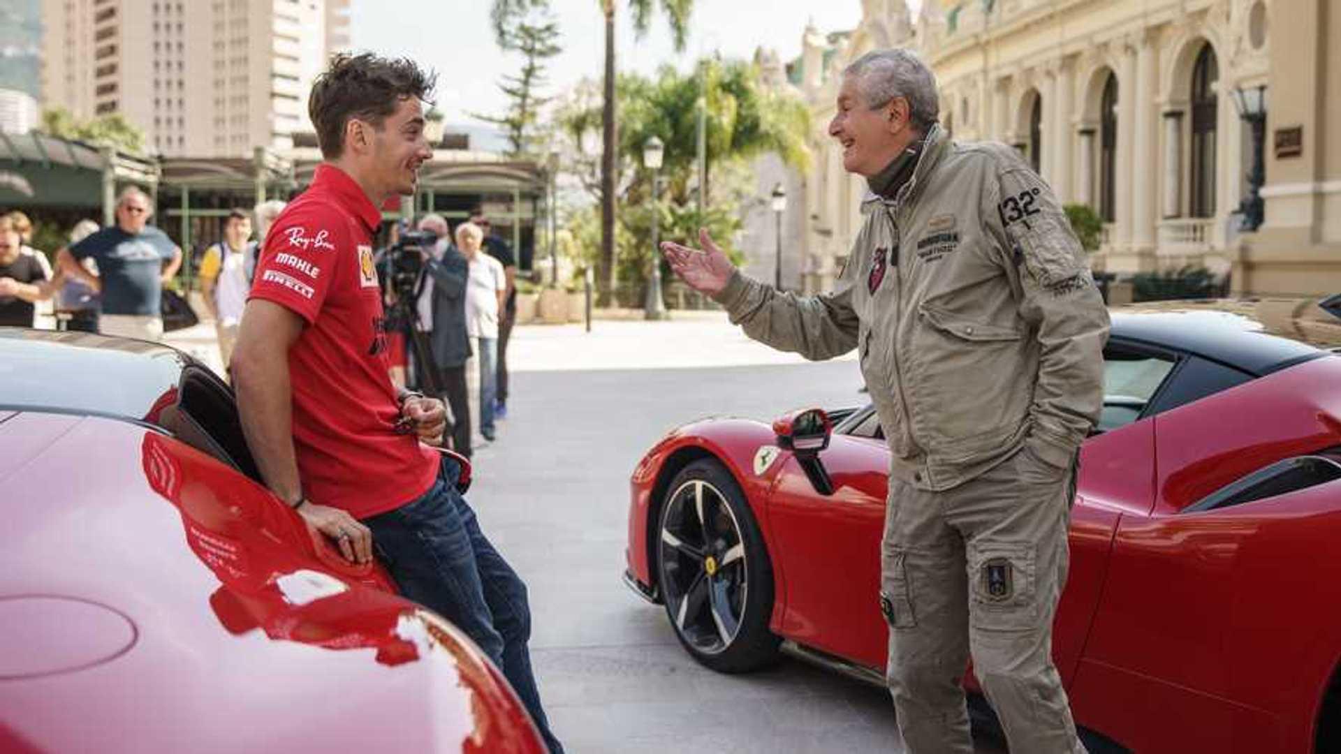 Pemières images de Leclerc en Ferrari dans 'Le Grand Rendez-vous'