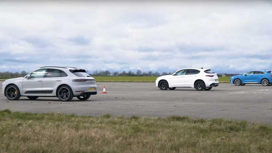 Porsche Macan Turbo, Audi RS Q3 ve Alfa Romeo Stelvio QV ile yarışıyor