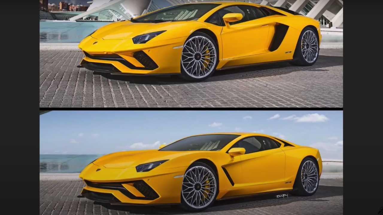 Lamborghini Aventador Front Engine Redesign