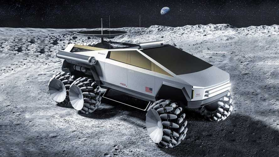 This Tesla Cybertruck Moon Rover Six-Wheeler Is Out Of This World