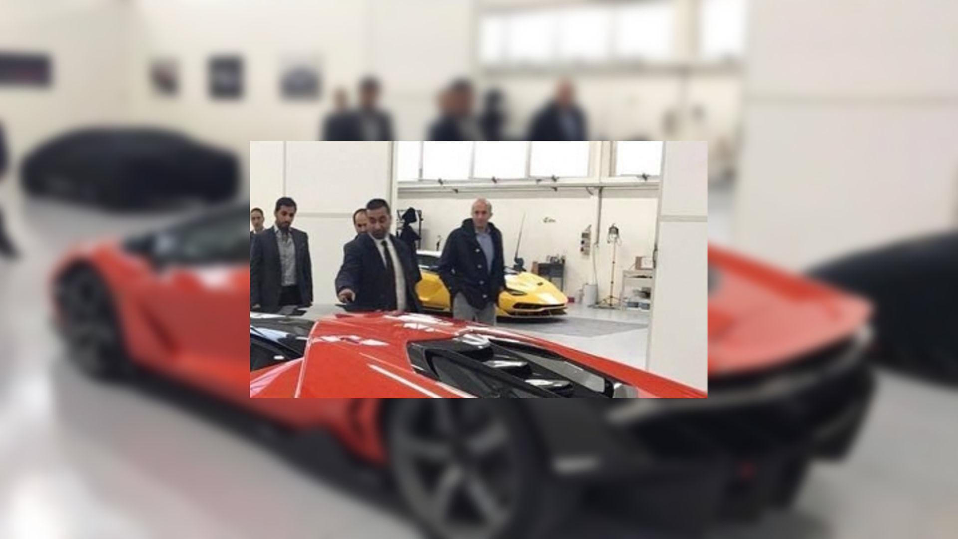 Lamborghini Centenario Orange And Black