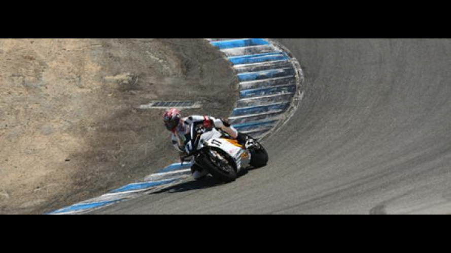 Mission Motors in pista a Laguna Seca