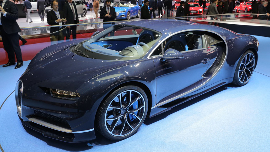 Genève 2017 - La vie en bleu pour la Bugatti Chiron