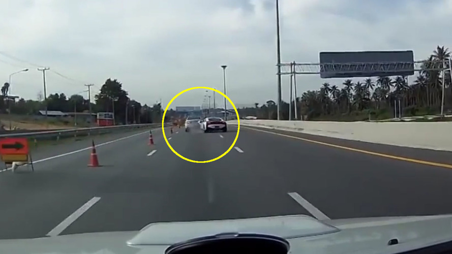 Watch a BMW i8 ram a Mercedes it could've easily avoided
