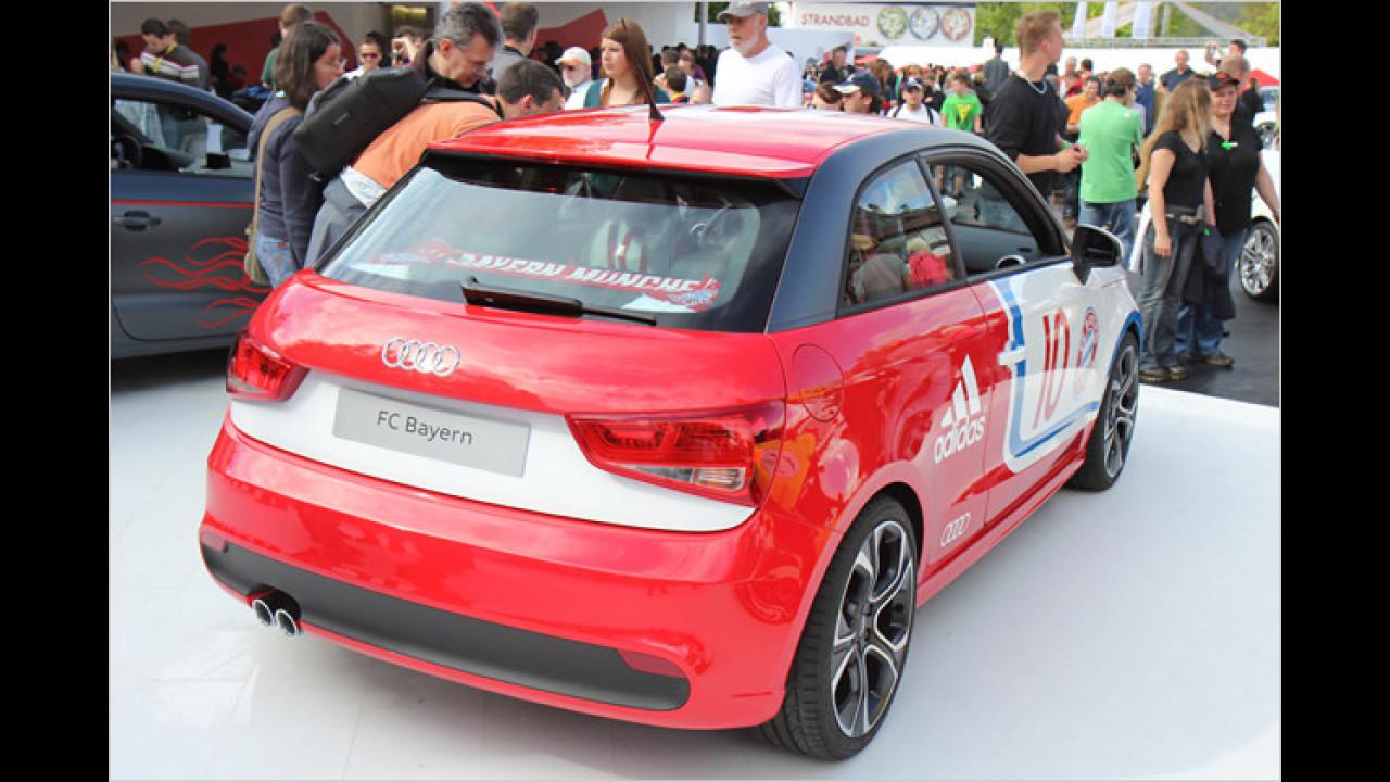 Audis Highlight für das GTI-Treffen ist der A1 im Bayern-München-Dress