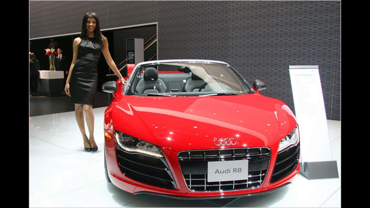 Olala, Audi ist aber auch mit schönen Exponaten vertreten!