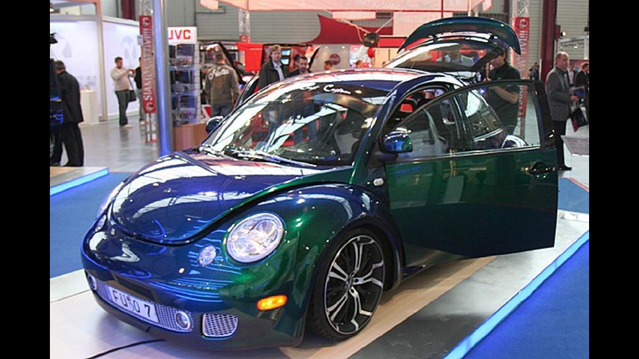 Fast ein bisschen in Vergessenheit geraten scheint der VW New Beetle – nicht so in Sinsheim