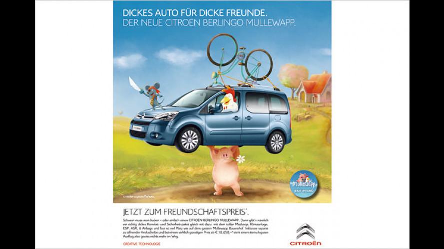 Sondermodell Citroën Berlingo Mullewapp: Kumpels sparen