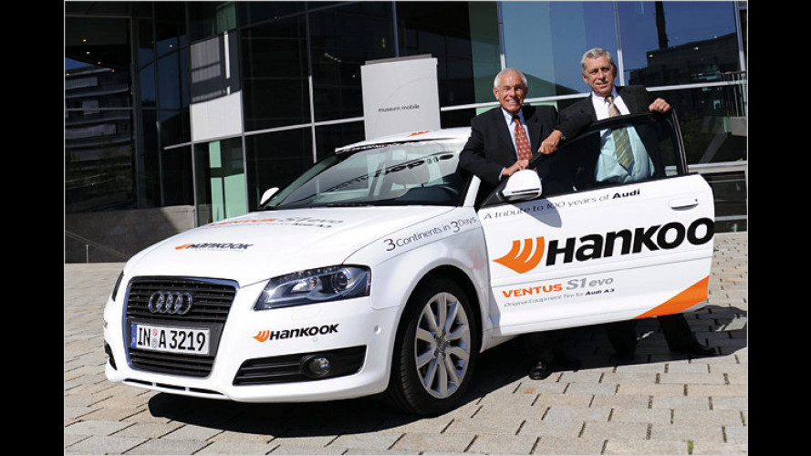 Audi A3 mit Rekord-Ziel: Drei Kontinente in drei Tagen