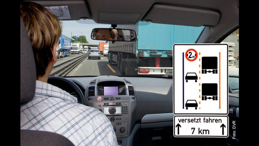 Gefahr an der Autobahnbaustelle – neues Schild soll helfen
