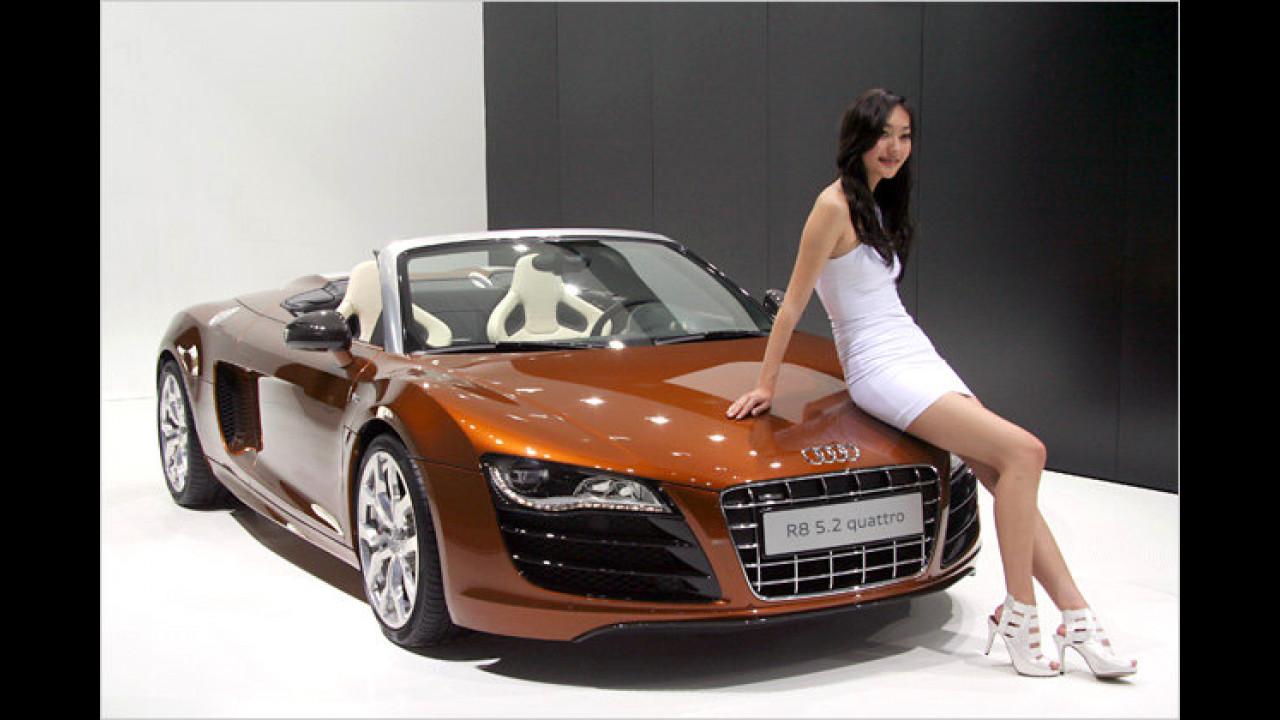 Na, schauen Sie mal! Was Audi Schönes mitgebracht hat ...