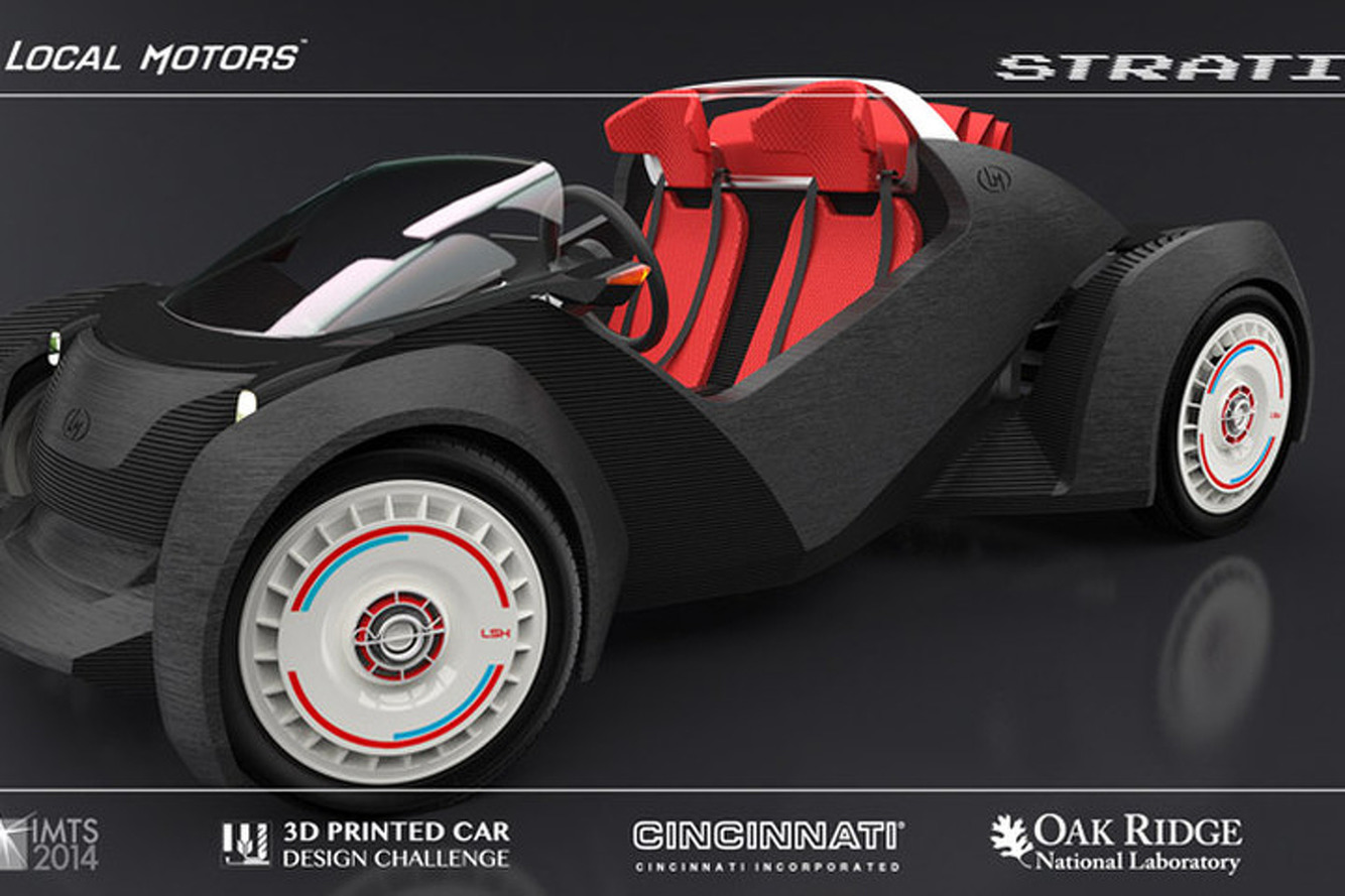 Local Motors Reveals 3D Printed Car Design, Shows Off Test Mule