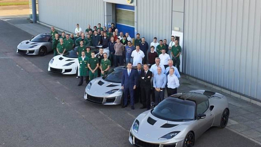 Lotus Evora 400 headed to dealerships