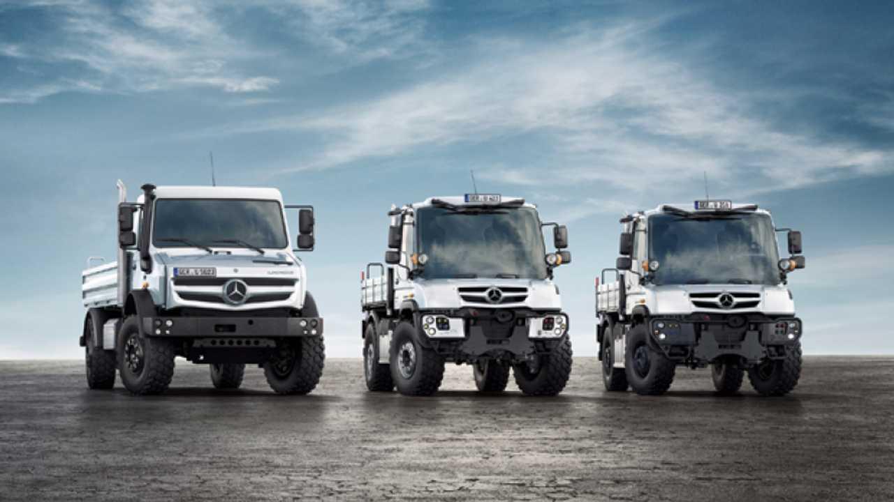 Mercedes, i nuovi Unimog