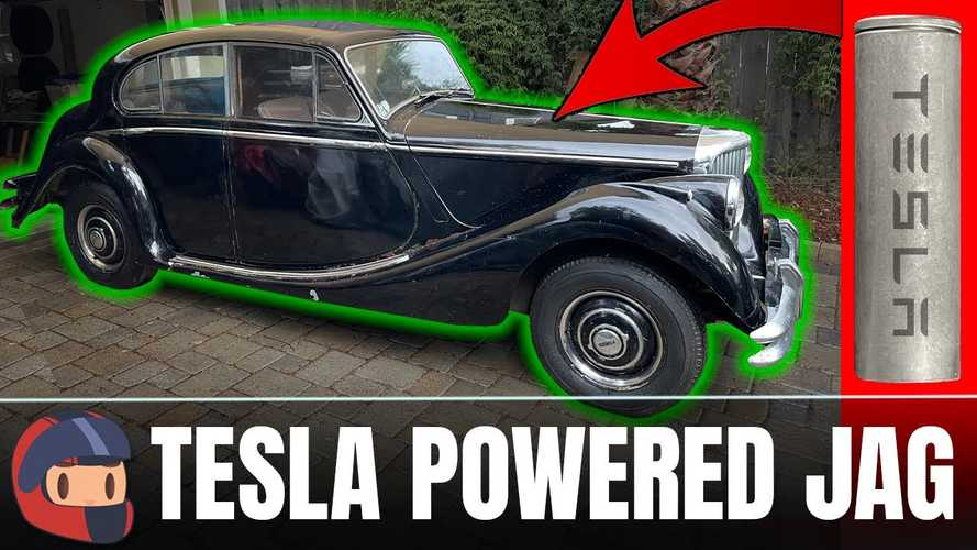 Ambitious Tesla-Powered 1950 Jaguar Mark V EV Conversion Project Started