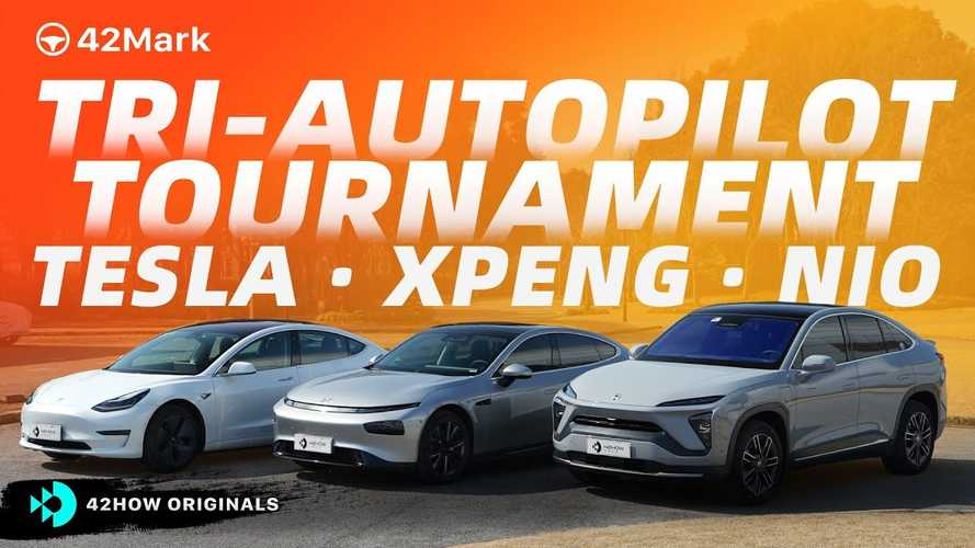 Watch This Fascinating Autopilot & Navigation Tournament: Tesla Vs Nio Vs Xpeng