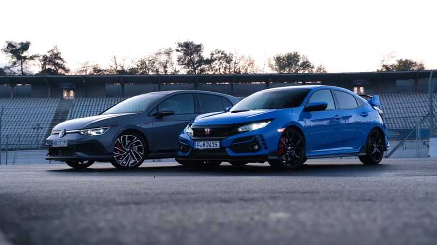 VW Golf GTI Clubsport Duels Honda Civic Type R At Hockenheim