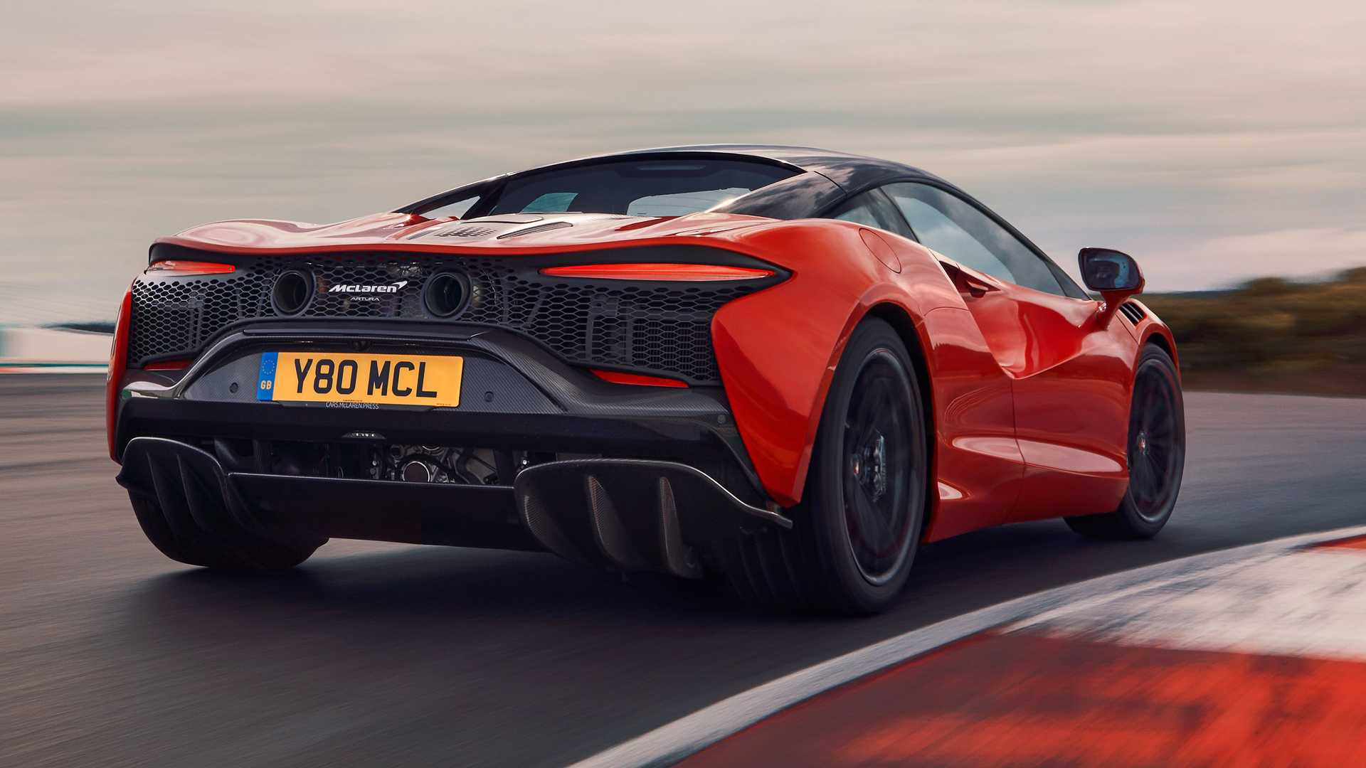 2022 McLaren Artura Rear On Track