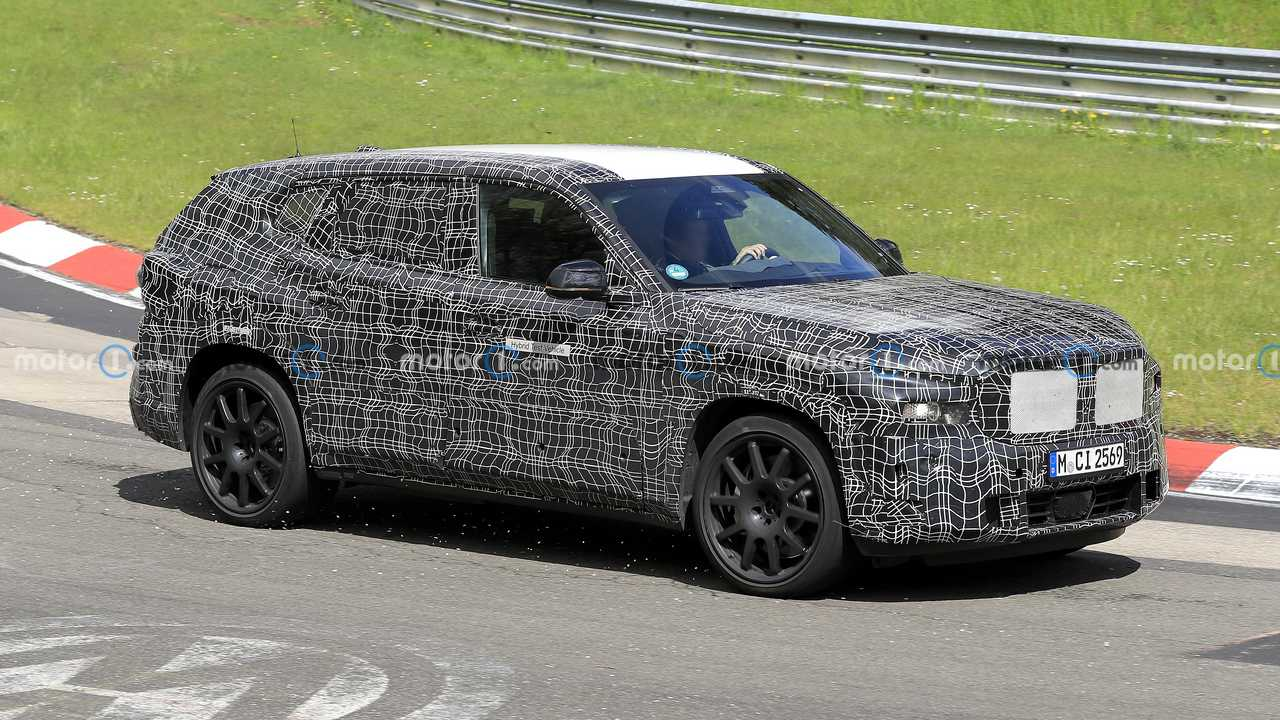 BMW X8 spy photo from the Nurburgring